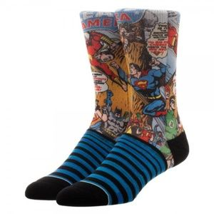 SOLD OUT - Justice League Comic Men's Socks
